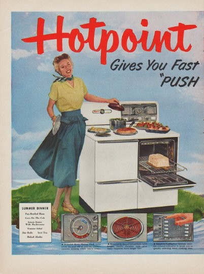 1950 Hotpoint Vintage Ad Quot Summer Dinner Quot