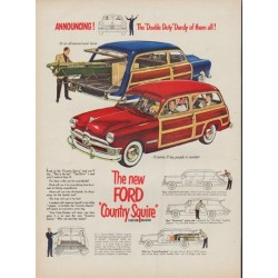 "1950 Ford Ad ""Double Duty Dandy"""