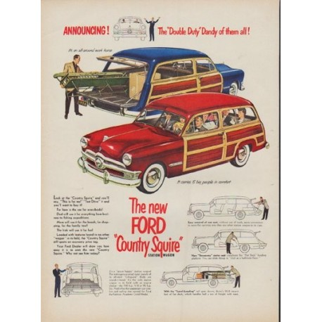 """1950 Ford Ad """"Double Duty Dandy"""""""
