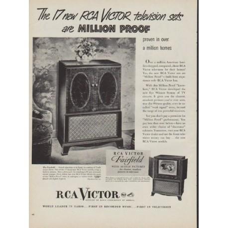 "1950 RCA Victor Ad ""Million Proof"""