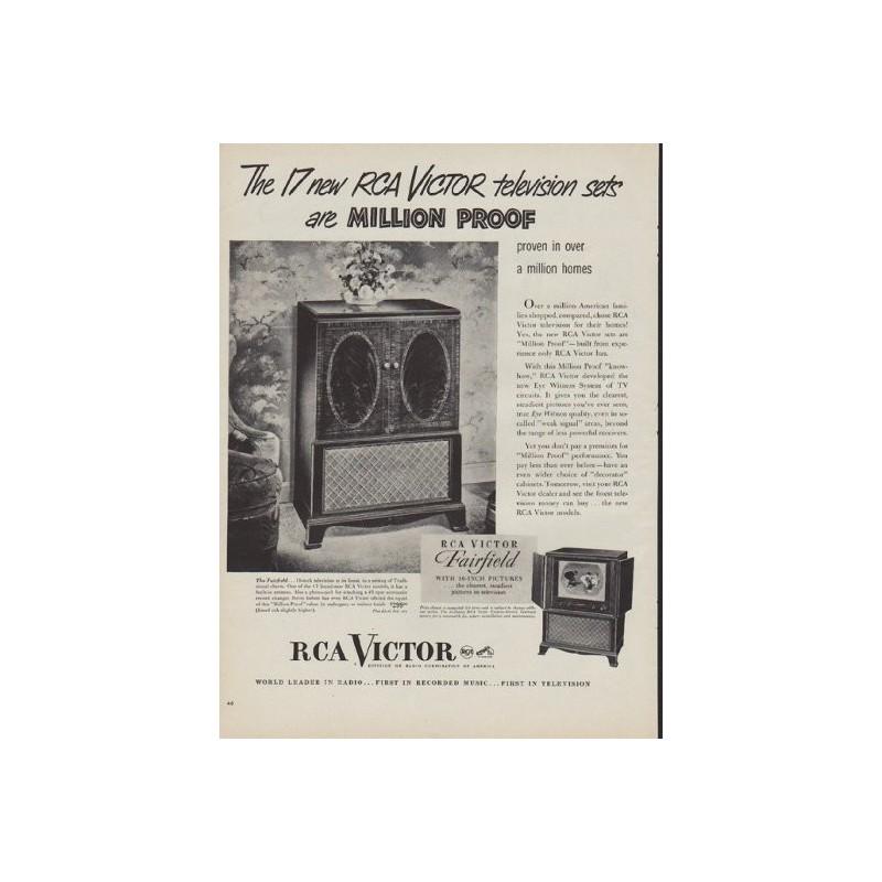 1950 RCA Victor Vintage Ad