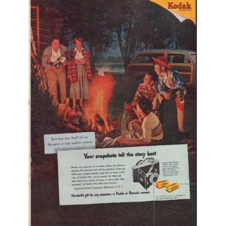 "1950 Kodak Ad ""Years from now"""