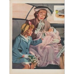 "1950 General Motors Ad ""Key to quiet travel"""