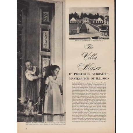 "1950 The Villa Maser Article ""Masterpiece of Illusion"""