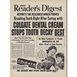 "1950 Colgate Ad ""July Reader's Digest"""