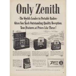 """1950 Zenith Ad """"Only Zenith"""""""