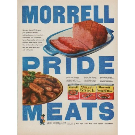 """1950 Morrell Meats Ad """"Pride"""""""
