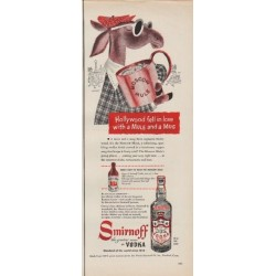 "1950 Smirnoff Vodka Ad ""Hollywood fell in love"""