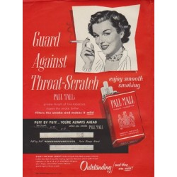 "1950 Pall Mall Ad ""Throat-Scratch"""