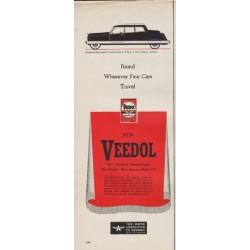"""1950 Veedol Ad """"Fine Cars"""""""