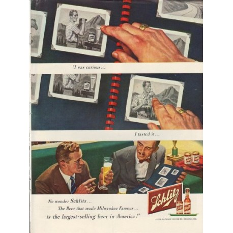 "1950 Schlitz Beer Ad ""I was curious"""