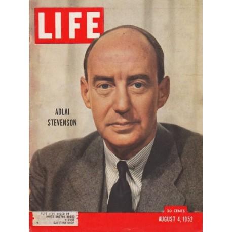 "1952 LIFE Magazine Cover Page ""Adlai Stevenson"""