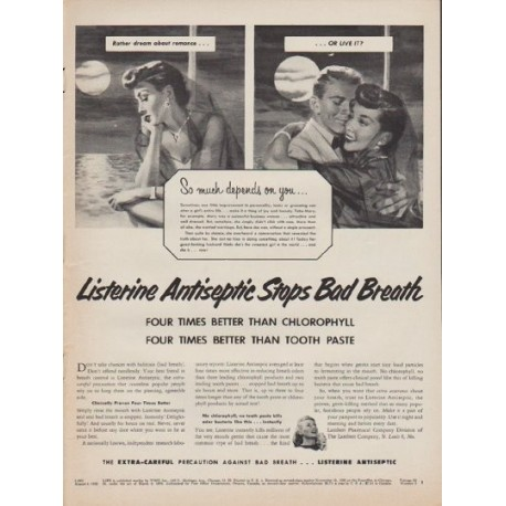"""1952 Listerine Ad """"So much depends"""""""