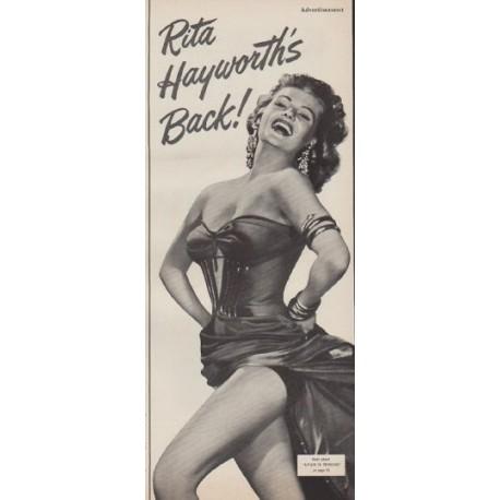 "1952 Affair in Trinidad Ad ""Rita Hayworth's Back!"""