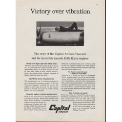 "1959 Capital Airlines Ad ""Victory Over Vibration"""