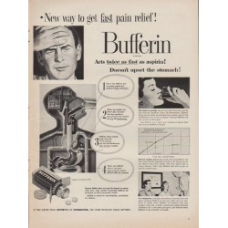 "1952 Bufferin Ad ""New way"""