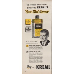 "1952 Kreml Ad ""No other hair tonic"""