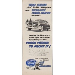 "1952 Ford Ad ""You Save"""