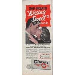 "1952 Clorets Ad ""Bad Breath"""