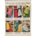 """1952 Cannon Towels Ad """"Cheer your bathroom"""""""
