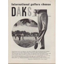 "1959 DAKS Trousers Ad ""On The Fairway"""