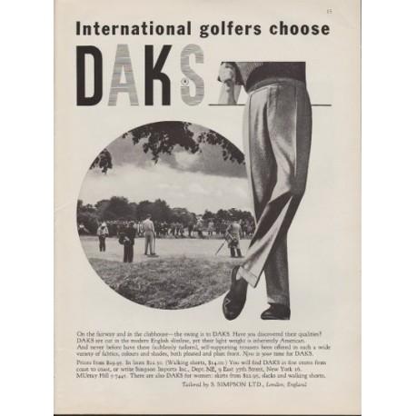 "1959 DAKS Trousers Ad ""On The Fairway"""
