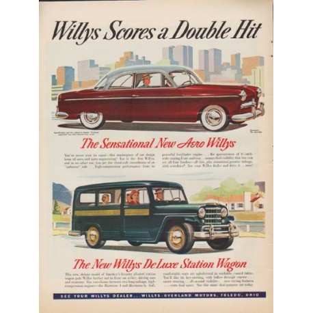 """1952 Willys Ad """"Double Hit"""""""