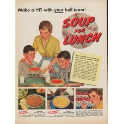"1952 Campbell's Soup Ad ""Make a HIT"""