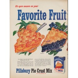"1952 Pillsbury Ad ""Favorite Fruit"""