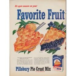 "1952 Pillsbury Ad ""Favorite Fruit"""