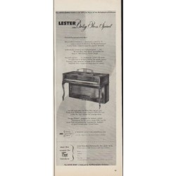 "1952 Lester Piano Ad ""Betsy Ross Spinet"""
