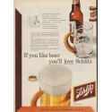 "1952 Schlitz Beer Ad ""If you like beer"""