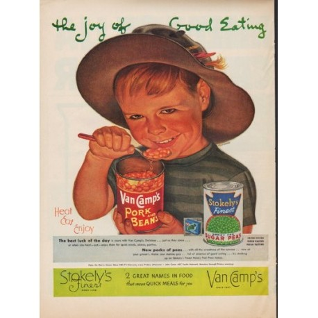 """1952 Stokely's Ad """"Good Eating"""""""