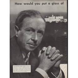 "1952 Ballantine Ale Ad ""A. J. Cronin"""