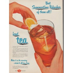 "1952 Tea Council Ad ""Best Summertime Refresher"""