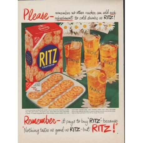 """1952 Ritz Crackers Ad """"Please"""""""