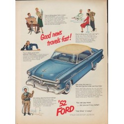 "1952 Ford Ad ""Good news"""
