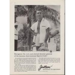 """1959 Jantzen Sportswear Ad """"Mr. Cousy"""""""