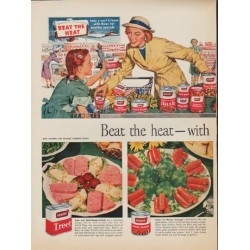 "1952 Armour Meat Ad ""Beat the heat"""