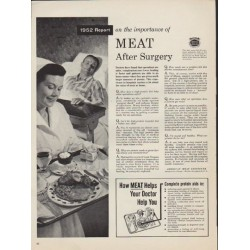"1952 American Meat Institute Ad ""Meat After Surgery"""