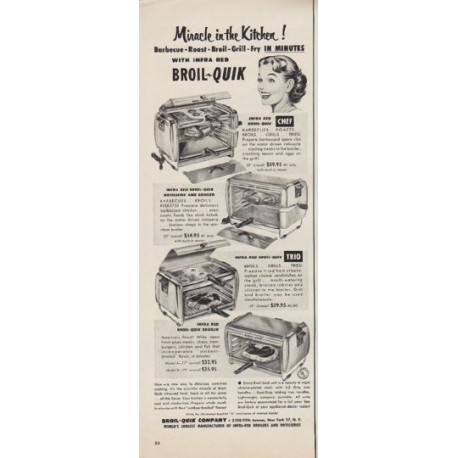 "1952 Broil-Quik Ad ""Miracle in the Kitchen"""