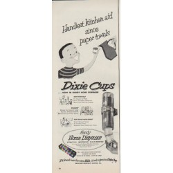 "1952 Dixie Cups Ad ""Handiest kitchen aid"""