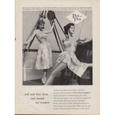 "1959 Peck and Peck ad ""Fun On Land & Water"""