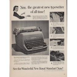 """1952 Royal Typewriter Ad """"greatest new typewriter"""""""