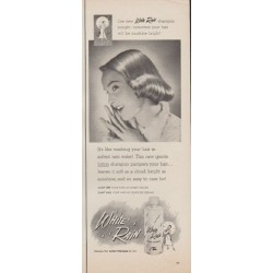 "1952 White Rain Ad ""softest rain water"""
