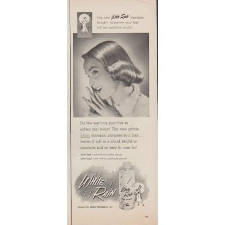 "1952 White Rain Ad ""softest rain water"""