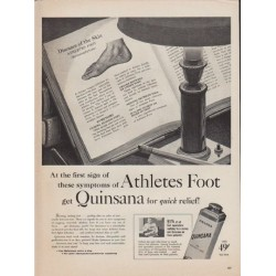 "1952 Quinsana Ad ""Athletes Foot"""