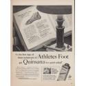 """1952 Quinsana Ad """"Athletes Foot"""""""