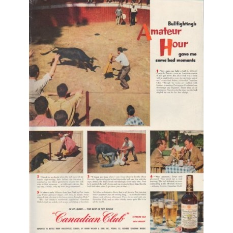 "1952 Canadian Club Ad ""Amateur Hour"""