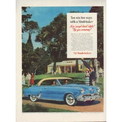 "1952 Studebaker Ad ""You win two ways"""